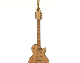 Personalized Wood Les Paul Guitar Ornament