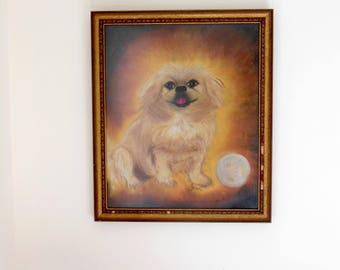 Vintage Dog Portrait Muffin Beloved Pet