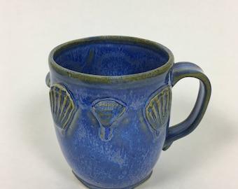 Ultramarine Blue Seashell Mermaid Mug