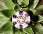 Amethyst Orgone Pendant  - Dolphins - Lightworker Jewellery - Crown Chakra Energy - Healing Crystal Pendant - Medium