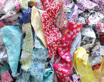 Liberty fabric Tana Lawn scraps bag, patchwork scraps, different sizes, quilting scraps