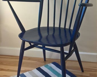 Ercol Windsor Chair in Navy Blue Gloss Finish - pair available