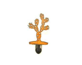 Prickly Pear Cactus Rusty Metal Image Style Night Light