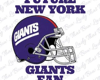 Future New York Giants Fan inspired Iron On for Kids Infants Adults
