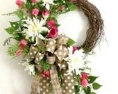 Pink Tulip Wreath, Everyd...