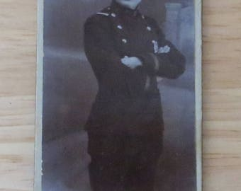 A Career Man - Early 1900's Young Russian Soldier Photo on Cardboard