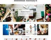 "Wordpress Theme ""Minimal Sundays"" // Responsive Magazine Style Premade Wordpress Design"