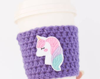 Unicorn Cup Cozy - Coffee Lover Gift - Travel Coffee Sleeve - Coffee Cup Sleeve - Christmas Gift under 10 - Stocking Stuffer