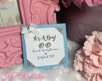 It's A Boy Baby Shower Favors, Blue and Gray Baby Shower Favors, Boy Baby Shower Favors