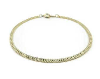 Vintage, Chain Bracelet, Herringbone, Gold Tone, STV71