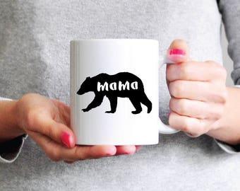 Mama Mear Mug - Mom Coffee Mug Ceramic Mug Mom Gift Mothers Day Gift Wife Gift