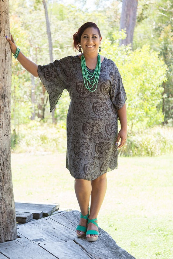 Curvy Caftan - Charcoal Journey