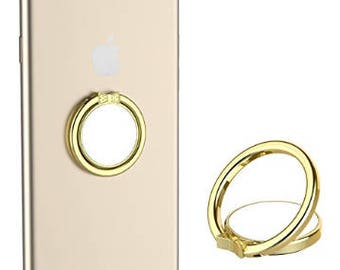 Multifunctional Cell Phone Ring Stand Holder 360 Finger Gold
