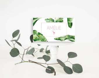 Tropical Wedding Place-Card - Wedding Place-Card - Tropical wedding Place-Card - Tropical Place-Card -Banana Leaf Place-Card -Tropical table