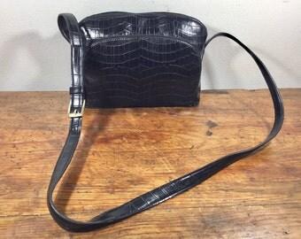 Jones New York Black Faux Leather Purse, Bag, Shoulder Bag