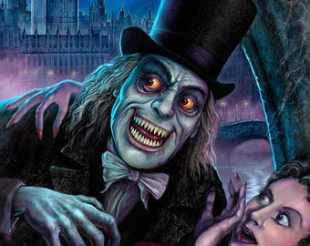 3 SIZES London After Midnight Poster Print Vampire classic horror movie monsters by Scott Jackson