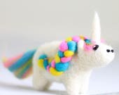 Unicorn Mini Needle Felting Kit – Unicorn Craft Kit – craft kit gift – needle felted unicorn – unicorn craft kit for adults - felted unicorn