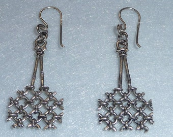 Earrings. Pentti Sarpaneva. Silver. Finland. Vintage.