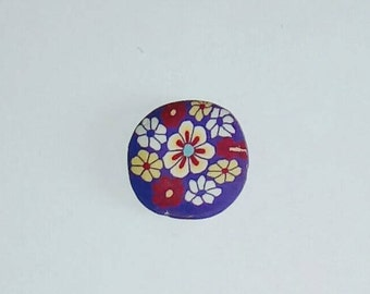 1 X Pearl colored polymer clay 20mm