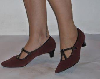 Keen early 1960s kitten heel mary jane day shoes US 7 1/2 - 8 / UK 5 1/2- 6