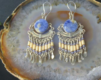 Peruvian Lapis Lazuli Earrings