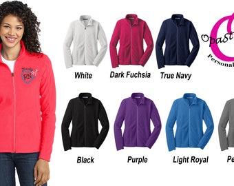 Personalized Nursing jacket,Micro Fleece, Heart Stethoscope Monogram, Nurse Gift, Embroidered Nurse Jacket, LPN, RN