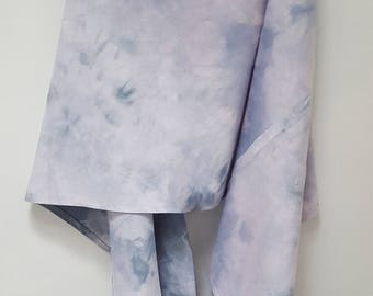 Hand Dyed Recycled Cotton Infinity Scarf in Lavender