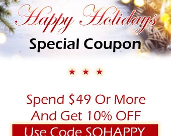 COUPON CODE, 10 OFF, Discount, Promotion, Christmas sale, Holiday Discount,