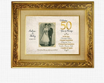 50th Anniversary Gift,  Anniversary Keepsake, Anniversary Gift, 50th Anniversary, Printable, 25th Anniversary, Photograph, Personalized
