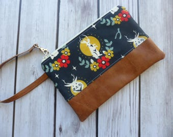Jackalope Gift, Phone Clutch, Rabbit Wristlet, Jackalope Wallet, iPhone 6 Wallet