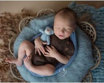 Newborn photo outfit / Newborn photo prop set / baby photo outfit / baby photo prop set / newborn romper set / baby hat set / baby overall