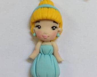 Bracelet handmade polymer clay Cinderella Disney