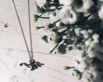 Cute Dinosaur Brachiosaurus Charm Necklace - Sterling Silver Chain