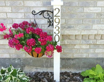 Address Planter Post - Address Display - Garden address display - Address Post - Flower post