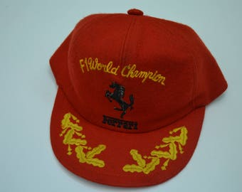 Ferrari F1 World Champion Hat Made in Japan Full Hat 5 Panel Size XL