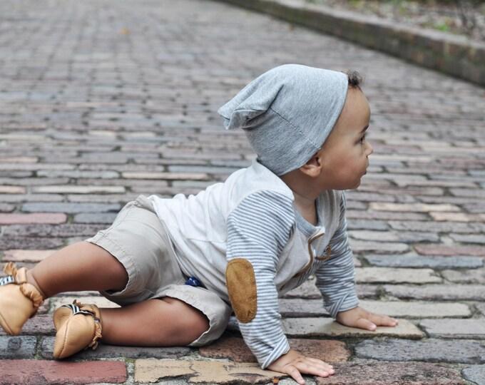 Grey Slouchy Baby Beanie