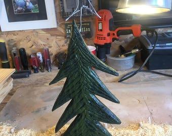"""Wood Christmas Tree, 12"""", Wood Tree, Rustic Decor, Mantel Decor, Wooden Tree, Wooden Christmas Tree, Wood Pine Tree, Rustic Christmas,"""