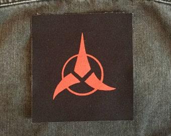 Klingon Symbol Patch from Star Trek