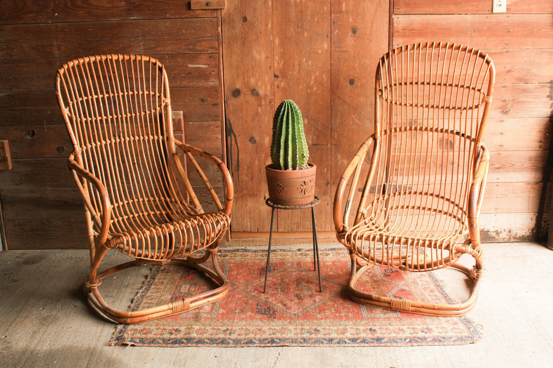 Vintage rattan chair -  Zoom
