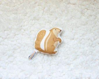 Organic Squirrel Rattle / Pillow - Baby Toy / Baby Gift / Teething Toy / Plushie / Stuffed Animal / Organic Baby Toy