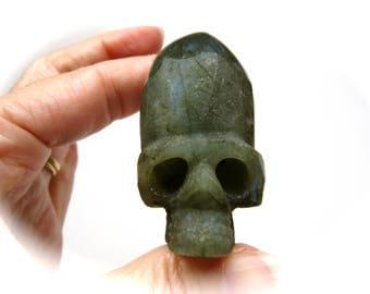 Labradorite Dome Head Crystal Skull 55mm 89g