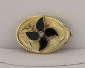 14K Gold Victorian Brooch