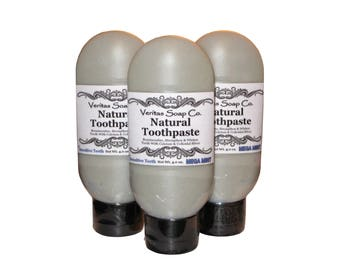 TOOTHPASTE for Sensitive Teeth - Remineralize with Colloidal Silver & Calcium in MEGA MINT / Vegan / No Fluoride / No Baking Soda / Kids