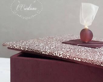 Decoration box, jewelery box {Fleurettes}