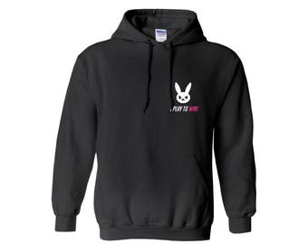 I Play To Win Hoodie - Overwatch Inspired D.Va