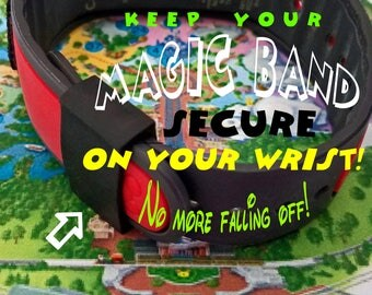 """Disney MagicBand """"Security Sleeves""""! Keep your band secure on your wrist Sizes Large & Small.  Disney MagicBand NOT Included! FREE Shipping!"""