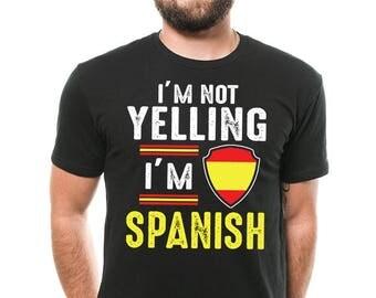 Spain T-Shirt Funny Spanish Patriot Nationality Birthday Gift Tee Shirt