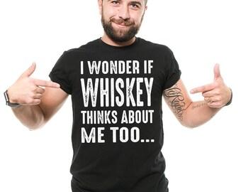 Whiskey T-Shirt Funny Whiskey Drinker pub Bar Drinking Party Tee Shirt