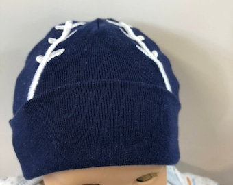 "15 inch Bitty Baby Doll Hat, Cool Blue ""BASEBALL"" Doll HAT, 15 inch Bitty Baby Clothes & Twin Doll, 15 inch Baby Doll Clothes, Play Ball!"