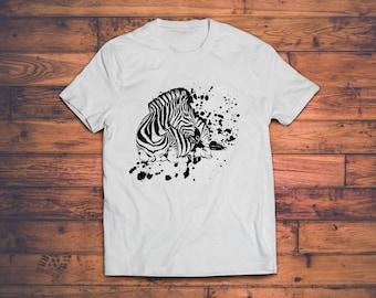 Zebra Shirt - Mens TShirt - Animal Shirt // Zebra Tee Shirt - Animal Kingdom Shirt // Animal Lover Gift // Gift for Men - Gift for Boyfriend